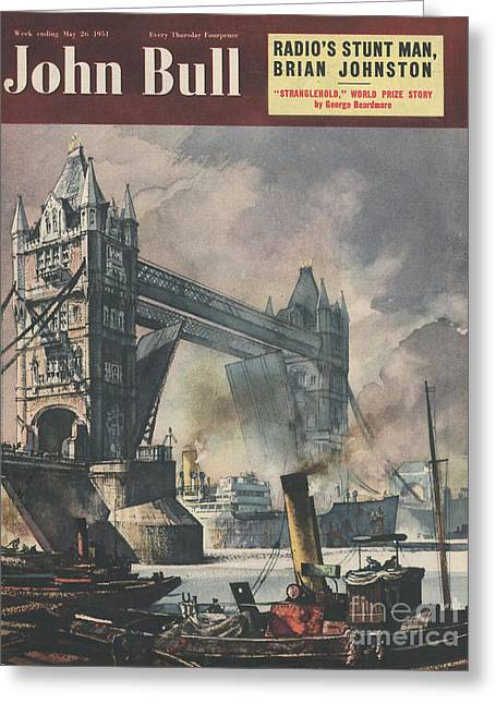 John Bull 1951 1950s Uk Tower Bridge Greeting Card by The Advertising Archives