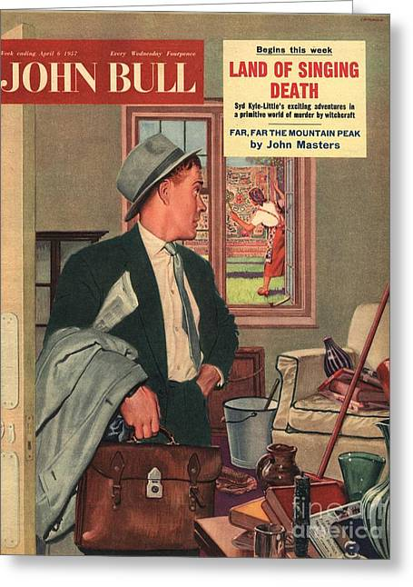 John Bull 1957 1950s Uk Cleaning Greeting Card by The Advertising Archives
