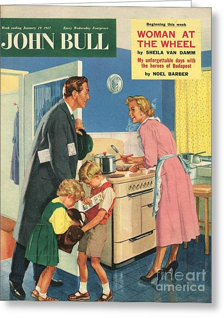 John Bull 1957 1950s Uk Cooking Greeting Card