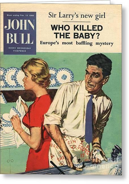 John Bull 1960s Uk Disasters Breaking Greeting Card