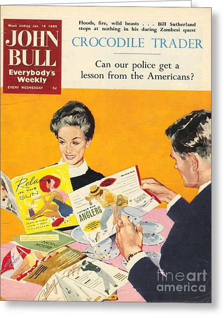John Bull 1960s Uk Holidays Brochures Greeting Card