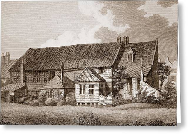 John Bunyans Meeting House, Early 19th Greeting Card by English School