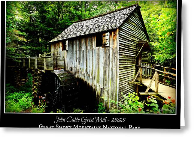 John Cable Grist Mill - Poster Greeting Card by Stephen Stookey