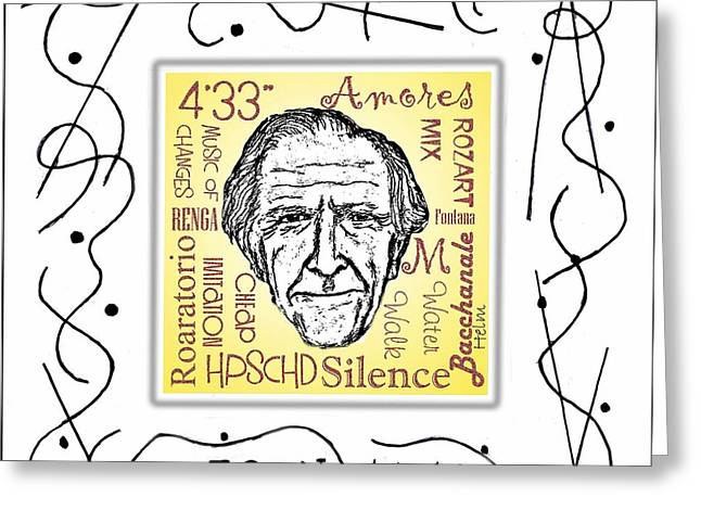 John Cage Greeting Card by Paul Helm