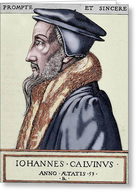 John Calvin (1509-1564 Greeting Card by Prisma Archivo