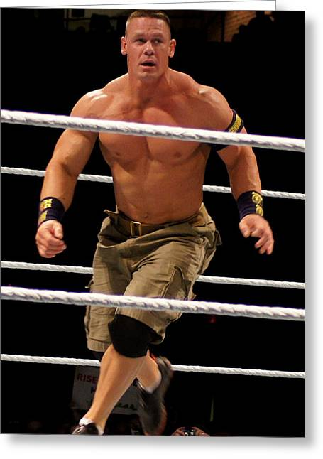 John Cena In Action Greeting Card