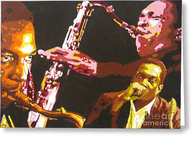 John Coltrane A Love Supreme Greeting Card by Ronald Young