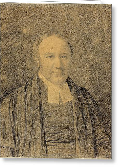 John Constable, British 1776-1837, Half-length Portrait Greeting Card