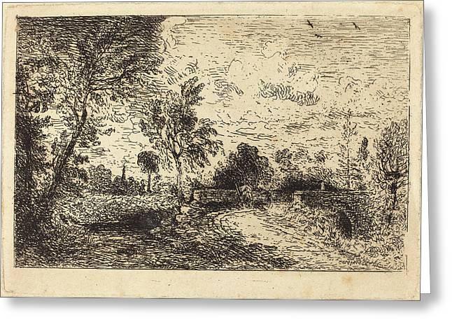 John Constable British, 1776 - 1837, Milford Bridge Greeting Card by Quint Lox
