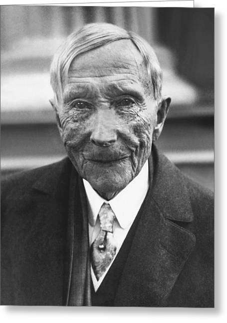 John D. Rockefeller At 88 Greeting Card