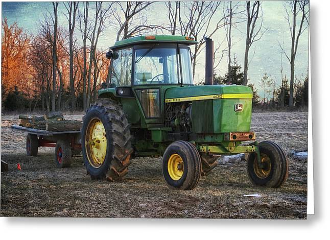 John Deere 4430 Tractor Greeting Card by Thomas Woolworth