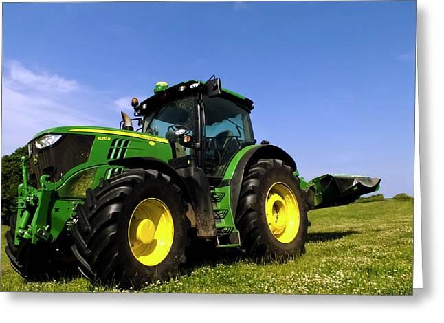 John Deere 6210r Tractor Greeting Card