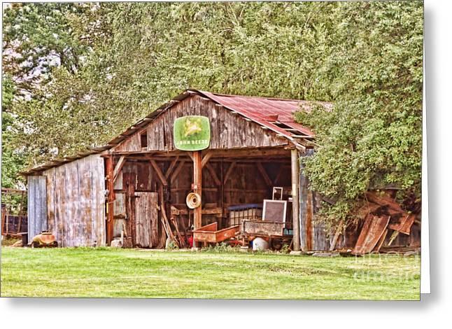 John Deere Barn Greeting Card