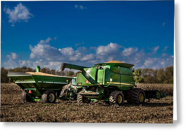 John Deere Combine 9770 Greeting Card