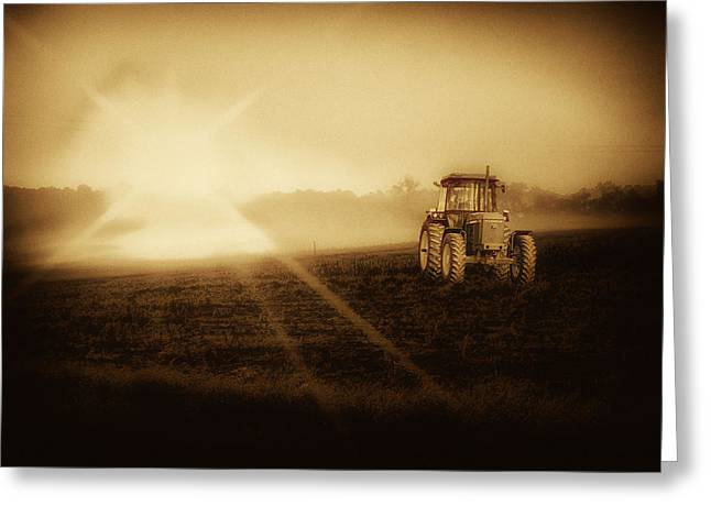 John Deere Glow Greeting Card