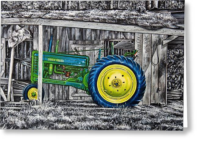 John Deere Green Greeting Card