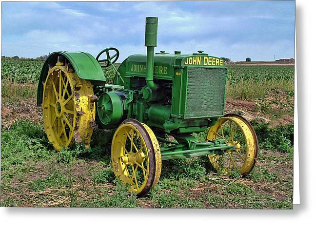 John Deere Tractor Hdr Greeting Card by Ken Smith