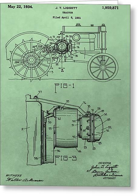 John Deere Tractor Patent Greeting Card