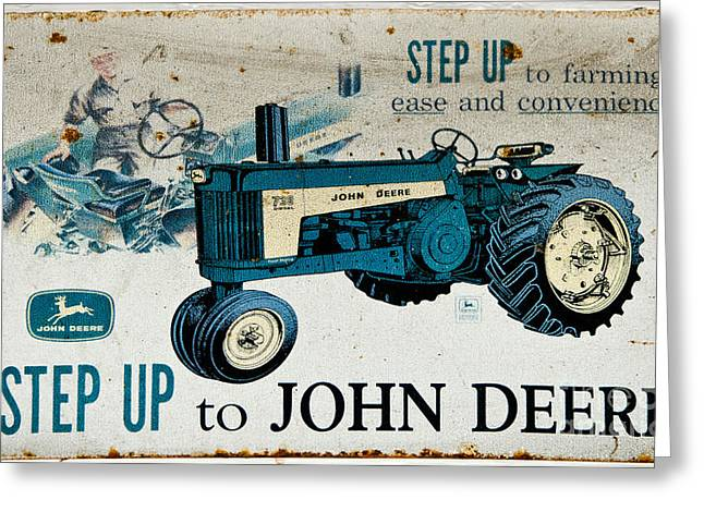 John Deere Tractor Sign Greeting Card