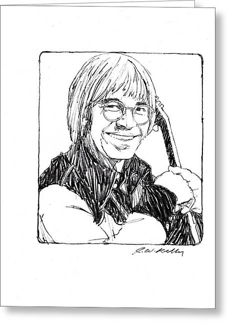John Denver Greeting Card by J W Kelly