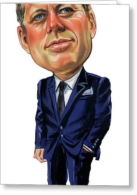 John F. Kennedy Greeting Card by Art