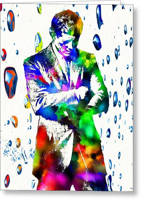 John F. Kennedy Greeting Card by Daniel Janda