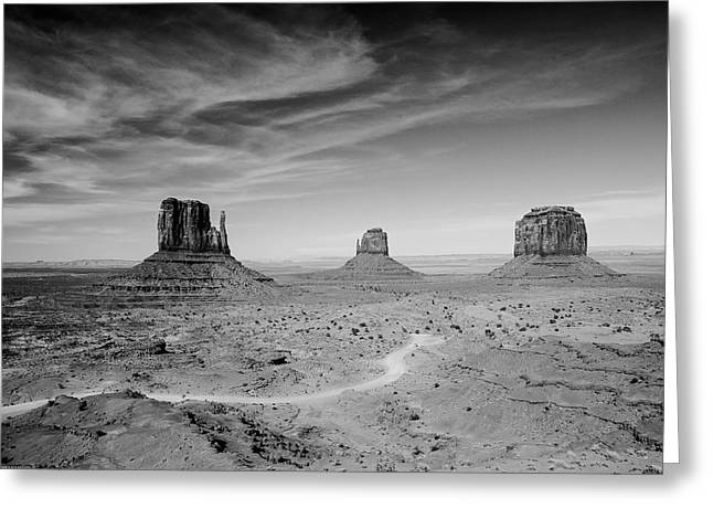 Greeting Card featuring the photograph John Ford View Of Monument Valley by Louis Dallara