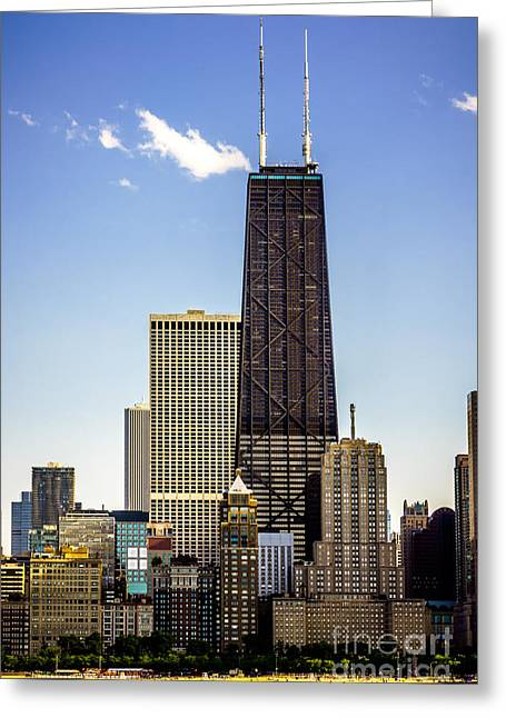 John Hancock Center Building In Chicago Greeting Card by Paul Velgos