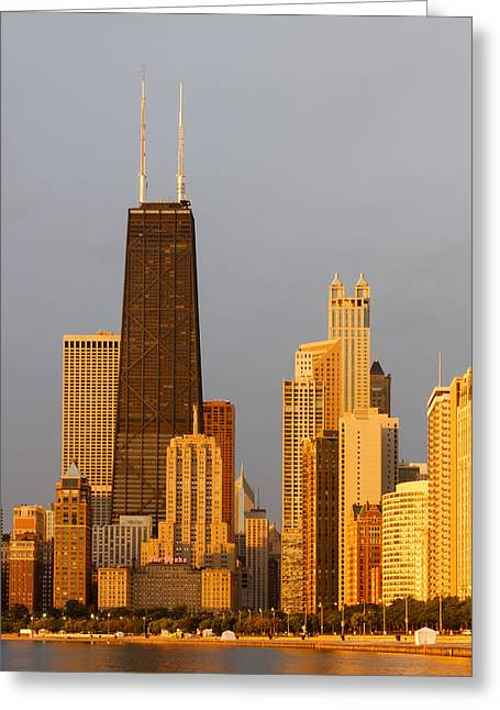 John Hancock Center Chicago Greeting Card by Adam Romanowicz