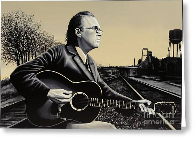 John Hiatt Painting Greeting Card