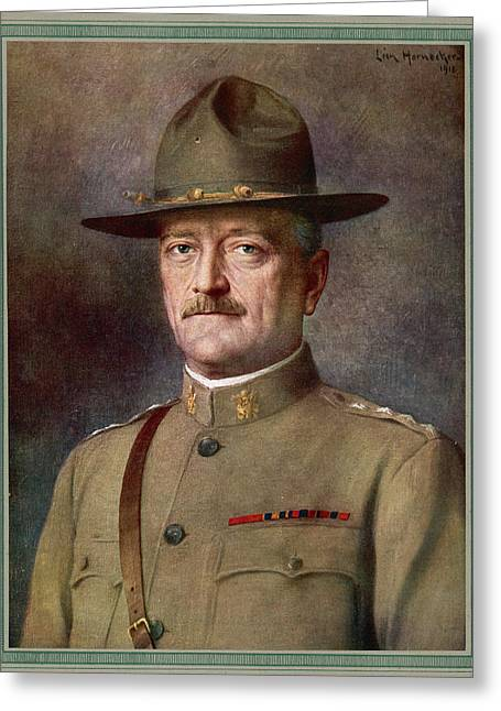 John Joseph Pershing    Nicknamed Black Greeting Card by Mary Evans Picture Library