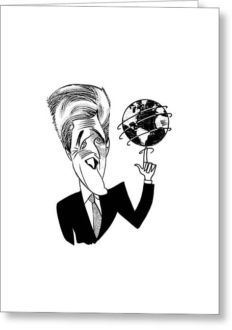 John Kerry Earth Day Greeting Card by Tom Bachtell