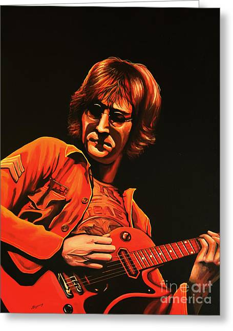 John Lennon Painting Greeting Card
