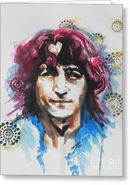 John Lennon 02 Greeting Card by Chrisann Ellis