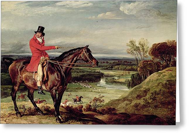 John Levett Hunting In The Park At Wychnor Greeting Card by James Ward