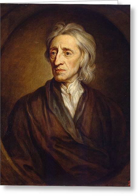 John Locke Greeting Card by Godfrey Kneller