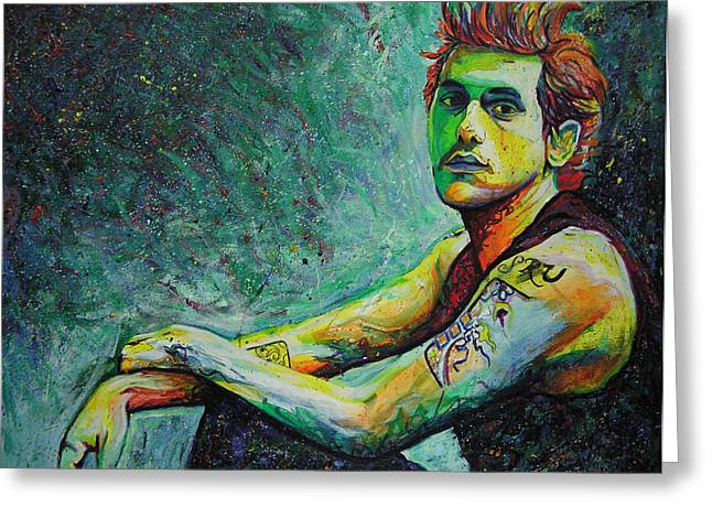 John Mayer Greeting Card by Joshua Morton
