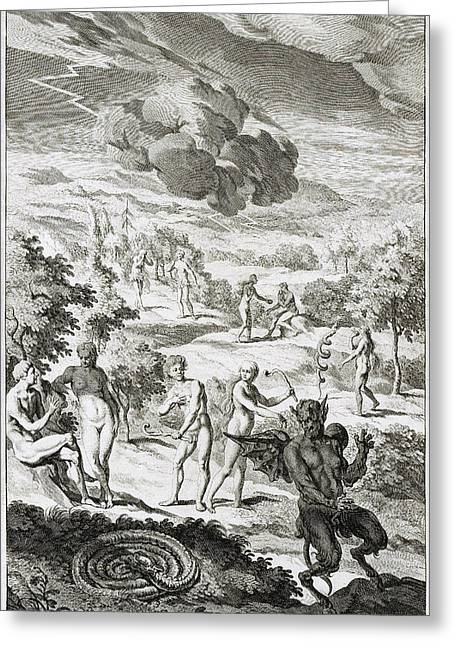 John Miltons Paradise Lost, Book Ix Greeting Card by Folger Shakespeare Library