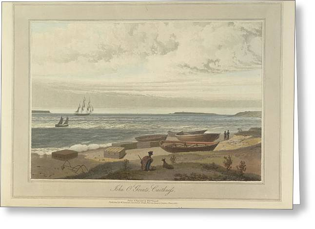 John O'groats Headland In Caithness Greeting Card by British Library