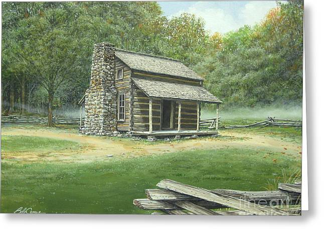 John Oliver Cabin Greeting Card
