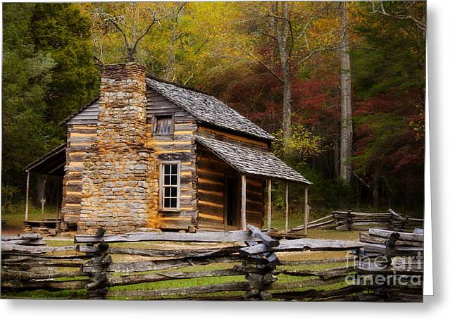 John Oliver Cabin Cades Cove Greeting Card