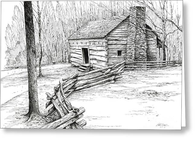 John Ownby Cabin Greeting Card