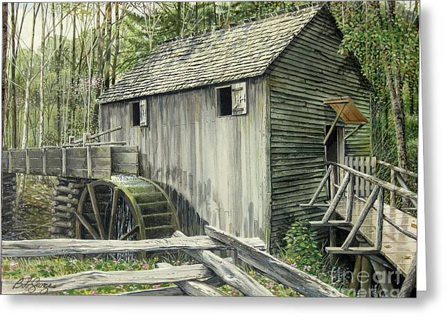 John P. Cable Grist Mill Greeting Card by Bob  George