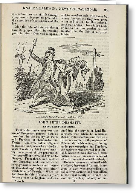 John Peter Dramatti Greeting Card by British Library
