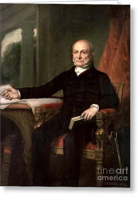 John Quincy Adams Greeting Card by GPA Healy