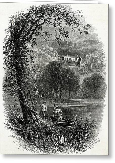 John Ruskin Home Of The English Art Greeting Card by Mary Evans Picture Library