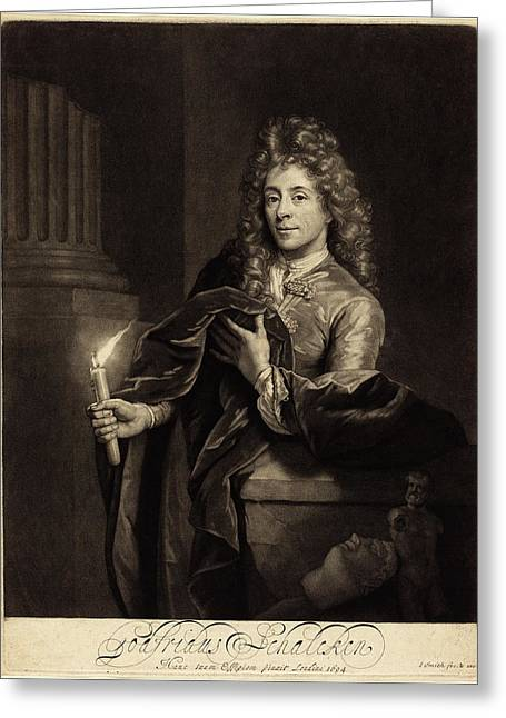 John Smith After Godfried Schalcken English Greeting Card by Quint Lox