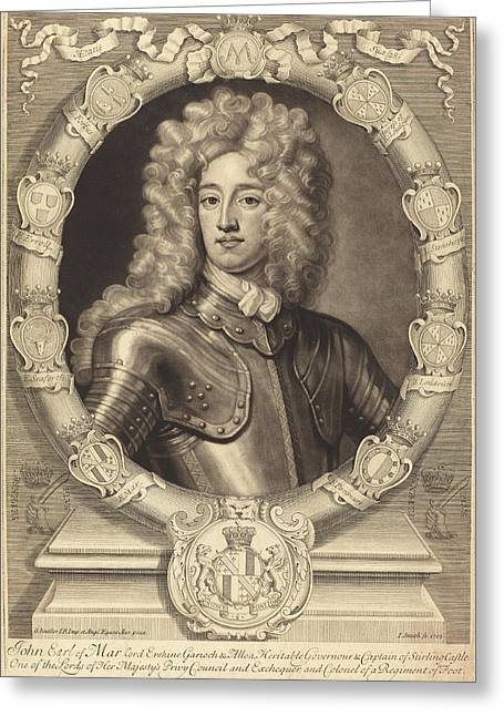 John Smith After Sir Godfrey Kneller Active Early 19th Greeting Card by Quint Lox