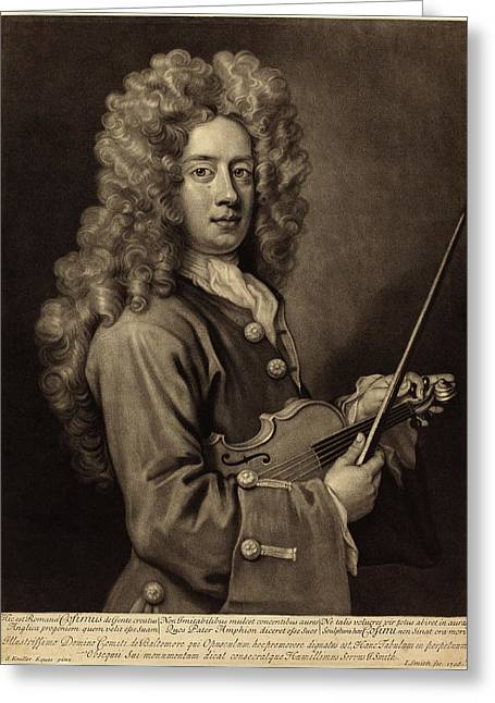 John Smith After Sir Godfrey Kneller English Greeting Card by Quint Lox