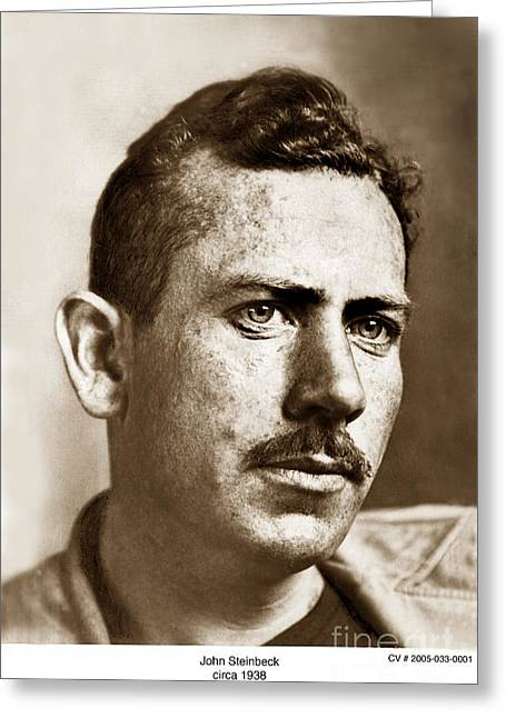 John Steinbeck American Author Circa 1938 Greeting Card